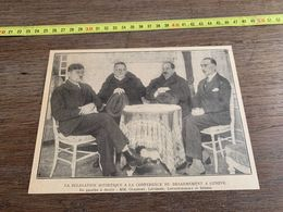 ANNEES 20/30 DELEGATION SOVIETIQUE CONFERENCE DESARMEMENT A GENEVE OUGAROFF LITVINOFF LOUNATCHARSKY BERENS - Sammlungen