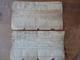 TELEGRAMMES DES 15 SEPT 14 OFF BAYONNE LILLE CENTRAL NORD ET 23-9 14  OFF BAYONNE COMMANDES D'EQUIPEMENTS - Dokumente