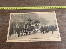 ANNEES 20/30 LES FUNERAILLES DE MELINE A PARIS ANCIEN MINISTRE - Sammlungen