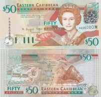 Eastern Caribbean St. / Montserrat - 50 Dollars 2003 UNC Letter M Pick 45m Lemberg-Zp - Oostelijke Caraïben
