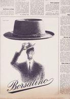 (pagine-pages)PUBBLICITA' BORSALINO  L'europeo1955/532. - Livres, BD, Revues