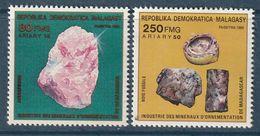 MADAGASCAR - N°910/1 ** (1989) Minéraux - Minerals