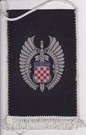 CROATIA  --  HVU   --   ( MILITARY ACADEMY )  --   17 Cm X 11,5cm  -  BANNER, PENNANT, DRAPEAU - Flags