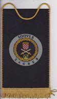 CROATIA  --  SOOVLS   ZAGREB --   20 Cm X 11,5 Cm  -  BANNER, PENNANT, DRAPEAU - Flags