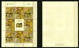 Europa CEPT 2020 BULGARIA Ancient Postal Routes - Fine Sheet (NFV) MNH - Nuovi
