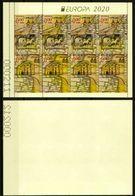 Europa CEPT 2020 BULGARIA Ancient Postal Routes - Fine Booklet Pane (NFV) MNH - Nuovi