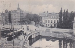 48177Amsterdam, Plantage Middelaan. (poststempel 1905) (Kaart Is Iets Bobbelig Door Waterschade ?) - Amsterdam