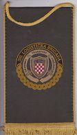 CROATIA  --   300. LOGISTICKA BRIGADA--   20 Cm X 11,5 Cm  -  BANNER, PENNANT, DRAPEAU - Flags