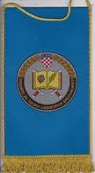 CROATIA  --   SREDISTE ZA OBUKU  LOGISTICKIH SPECIJALNOSTI--   20 Cm X 11,5 Cm  -  BANNER, PENNANT, DRAPEAU - Bandiere