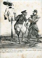 Campagne D'Italie De 1859.Napoléon III.Invasion Du Piémont Par Les Autrichiens.départ Des Troupes Françaises. Cham. - Estampes & Gravures