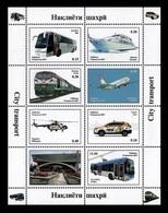 Tajikistan 2019 Mih. 862/69 Transport. Car. Bus. Boat. Train. Helicopter. Plane. Trolley Bus (M/S) MNH ** - Tadjikistan