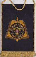 CROATIA  --  OBUCNO SREDISTE VOJNE POLICIJE  --  MILITARY POLICE  ACADEMY -   17 Cm X 11 Cm  -  BANNER, PENNANT, DRAPEAU - Bandiere