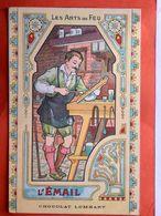 CPA. Publicité.CHOCOLAT LOMBART. Les Arts Du Feu. L'émail . (Q.495) - Pubblicitari