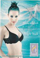 D2143 CARTE PUBLICITAIRE - MARQUE MAGIC HUIT - FEMME EN SOUTIEN GORGE - LINGERIE - SPÉCIAL SAINT VALENTIN - Publicité