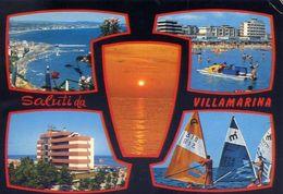 Saluti Da Villamarina - Formato Grande Viaggiata – E 16 - Italie