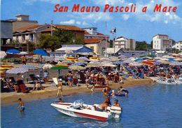 San Mauro Pascoli A Mare - Vita Di Spiaggia - Formato Grande Viaggiata - E 16 - Italie