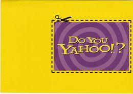 D2144 CARTE PUBLICITAIRE - INTERNET - YAHOO - FAITES DE L'INTERNET - Publicité