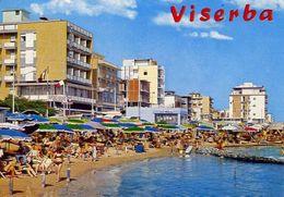Viserba - Spiaggia E Alberghi - Formato Grande Viaggiata – E 16 - Italie