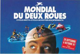 D2146 CARTE PUBLICITAIRE - ÉVÉNEMENT MONDIAL DU DEUX ROUES - PARIS PORTE DE VERSAILLES 1997 - Publicité