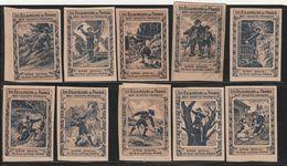 Les Eclaireurs De France : Boy-scouts Français - 10 Vignettes - Commemorative Labels