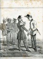 Campagne D'Italie De 1859.Napoléon III.Invasion Du Piémont Par Les Autrichiens.la France Arrivant Sur Le Terrain. Cham. - Estampes & Gravures