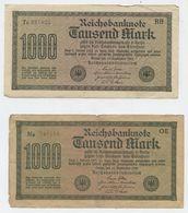 Allemagne - 1000 MARK Reichsbanknote (15-9-1922) , 4 Billets 1918-1933 : République De Weimar - [ 3] 1918-1933 : Repubblica  Di Weimar