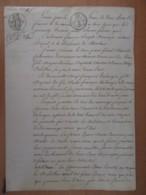 Contrat De Mariage Ancien - Epoque Louis XVIII - Papier Timbre Loi De 1816 - Daté 1822 (+ Griffe Postérieure 1860) - Documents Historiques