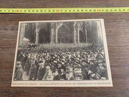 ANNEES 20/30 EVACUATION DE COLOGNE FOULE ATTENDANT LE DEPART DES DERNIERES TROUPES BRITANNIQUES - Sammlungen