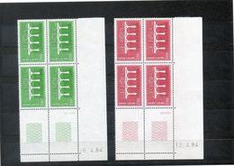 NE - Andorre - 20 - Bloc De 4 Coin Daté Des N° 329 Et 330 - Frans-Andorra