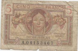 Allemagne,Billet, Cinq Francs 1947 Territoires Occupés - Trésor Billet, Cinq Francs, 5 - Andere