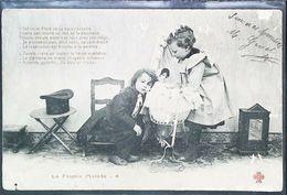 Carte Postale - CPA  Enfant   Poupée Berceau   Chapeau Haute Forme  1904 - Dolls