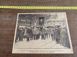 ANNEES 20/30 FORT DES HALLES DE PARIS DELEGATION INTERNATIONALE HOTELIERE - Sammlungen