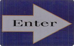 Generic ENTER On Arrow Hotel Room Key Card - Hotelsleutels (kaarten)