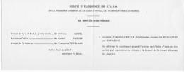 Faire-part Pour La Coupe D' Eloquence De L'Union Des Jeunes Avocats Du 10/01/1958 à La Cour D'Appel De Paris - Sonstige