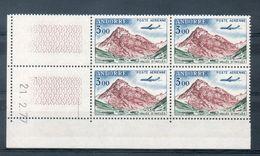 NE - Andorre - 19 - Bloc De 4 Coin Daté Du N° Poste Aérienne 6 - Frans-Andorra