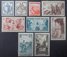 VL3804/126 - 1945 - DIVERS - N°734 à 742 NEUFS** - France