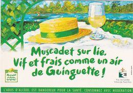 D2156 CARTE PUBLICITAIRE  - BOISSON ALCOOLISÉE - MUSCADET SUR LIE, LA HAYE FOUASSIERE - Publicité