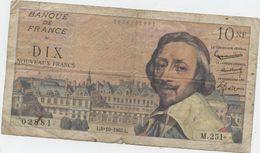 Billet, Richelieu, 5NF, 1962 - 1959-1966 Francos Nuevos