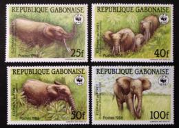 Gabon, « Fauna », « Elephants », « WWF », 1988 - Gabon (1960-...)