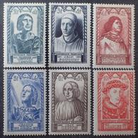 VL3804/127 - 1946 - CELEBRITES - SERIE COMPLETE - N°765 à 770 NEUFS** - France
