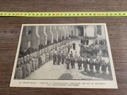 ANNEES 20/30 AU VAL DE GRACE MANIFESTATION CHILIENNE AUX BRANCARDIERS MILITAIRES - Sammlungen