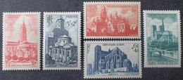 VL3804/128 - 1947 - CATHEDRALES ET BASILIQUES - SERIE COMPLETE - N°772 à 776 NEUFS** - France