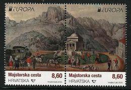 "CROACIA / CROATIA / KROATIEN / HRVATSKA  -EUROPA 2020 -"" ANCIENT POSTAL ROUTES"" - SERIE De 2 V. JUNTOS - N - 2019"