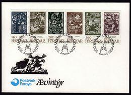 Faroe Islands 1984 / Fairytales / FDC - Fairy Tales, Popular Stories & Legends