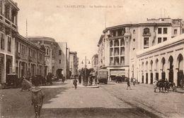 CASABLANCA (Maroc) - Le Boulevard De La Gare - Cpa En Très Bon état - 2 Scans - Casablanca