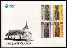 Foroyar Faroe Islands 1980 / Pews From Kirkjubøur Church - Isole Faroer