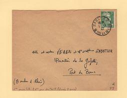 Marianne De Gandon - 1 Janvier 1947 - 1er Jour Du Tarif - Nancy - Meurthe Et Moselle - Rare - Postmark Collection (Covers)