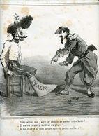 Campagne D'Italie De 1859.Napoléon III.Invasion Du Piémont Par Les Autrichiens.sommation Française.quittez L'Italie.Cham - Estampes & Gravures