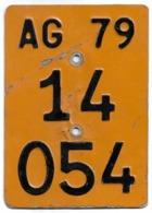 Velonummer Mofanummer Aargau AG 1979 - Plaques D'immatriculation