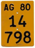 Velonummer Mofanummer Aargau AG 1980 - Plaques D'immatriculation